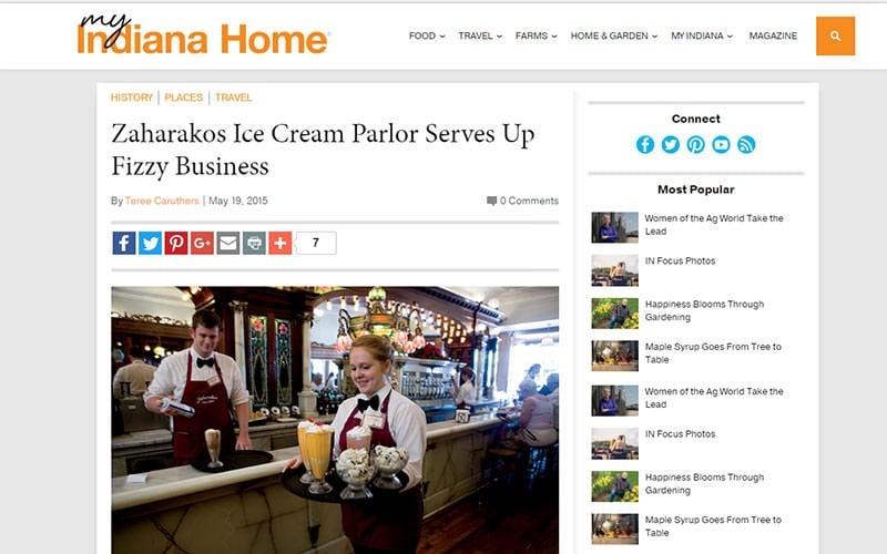 My Indiana Home visits Zaharakos