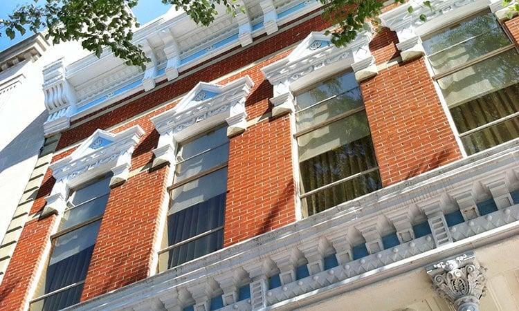West facing windows at 301 Washington