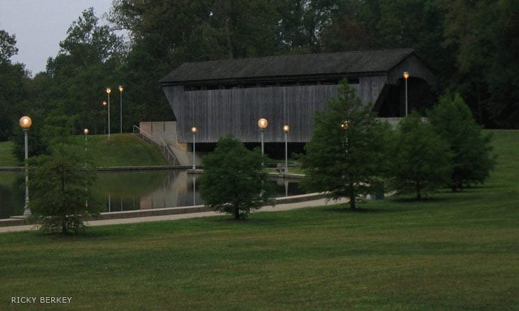Mill Race Park covered bridge
