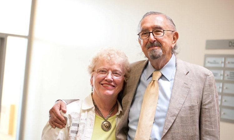 Cesar Pelli and tour guide coordinator Joyce Orwin