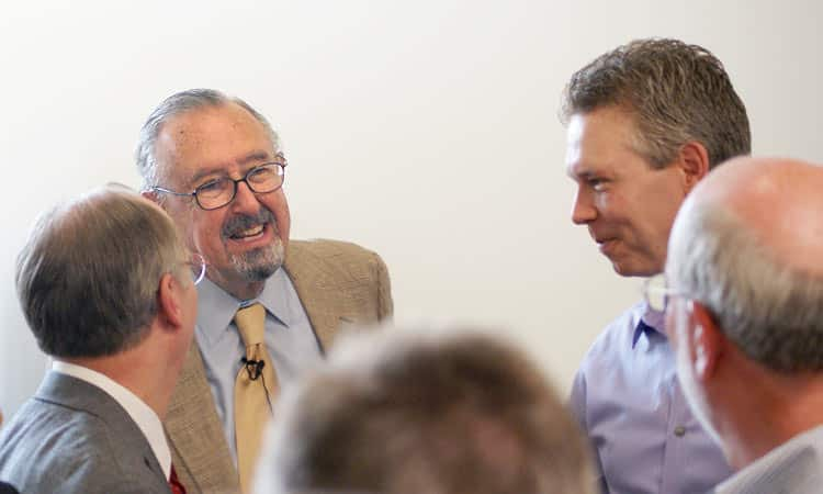 Cesar Pelli at The Advanced Manufacturing Center in Columbus, Indiana