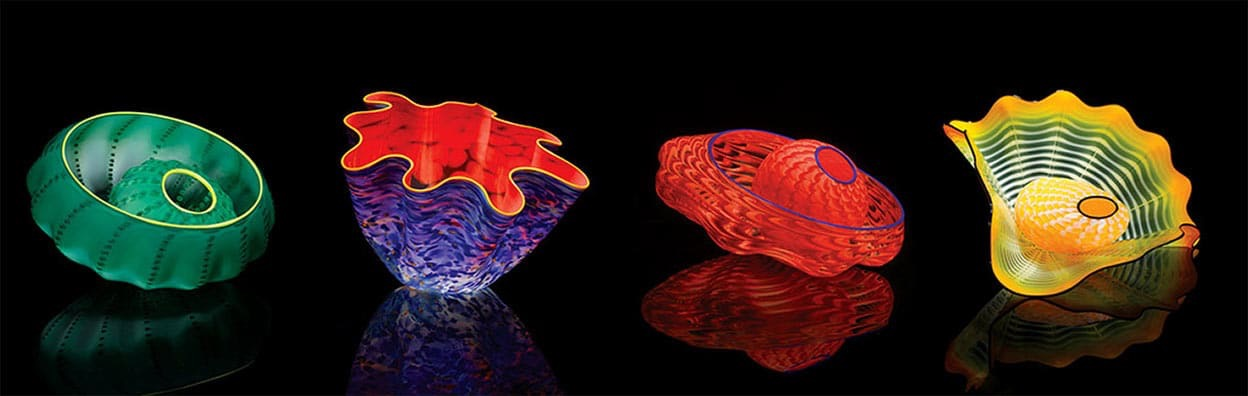 Dale Chihuly Studio Editions, 2016, available to purchase at Columbus, Indiana gift shop