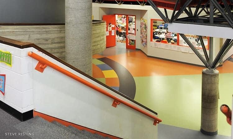 Columbus Signature Academy, Fodrea Campus, Paul Kennon, 1973 - interior