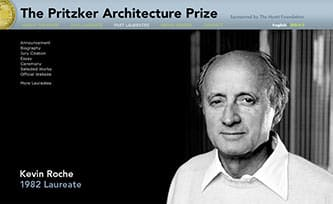 Pritzker Prize winner Kevin Roche