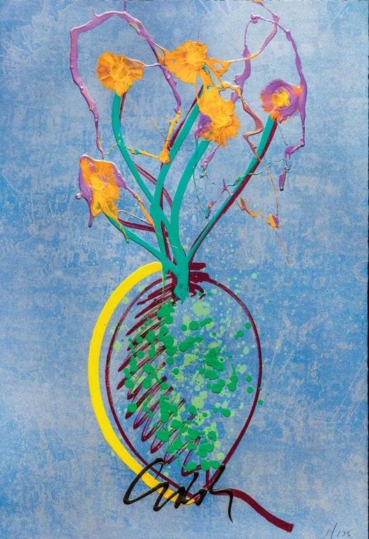 Sterling Idebana print, Dale Chihuly
