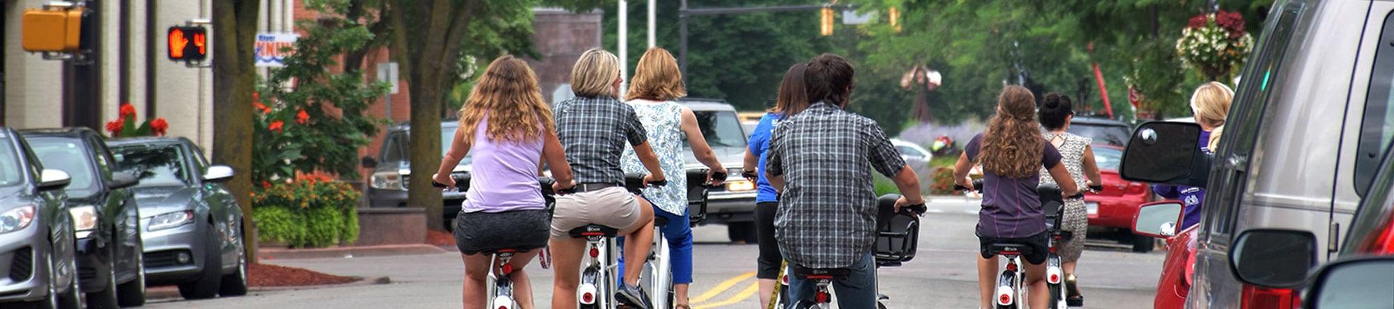 bikeshare bikers on fifth street