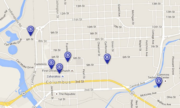 b-cycle stations in columbus