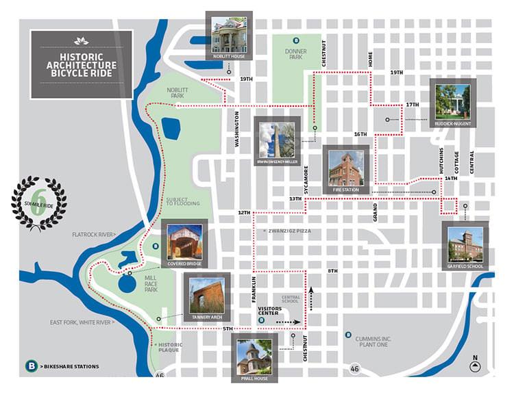 Historic bike ride route