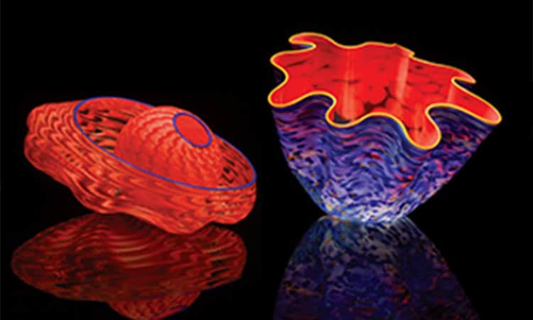 Chihuly glass at Visitors Center gift shop