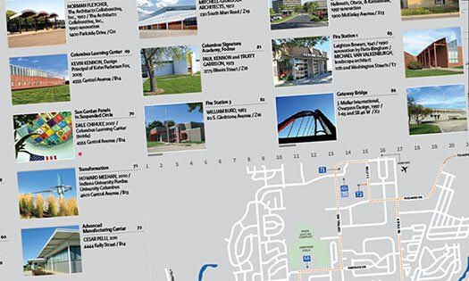 tour map guide, south side of Columbus