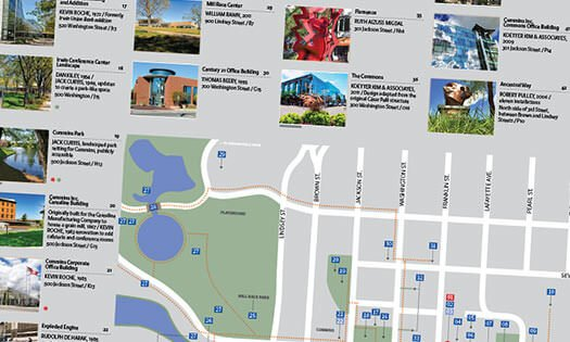 tour map guide, north side of Columbus