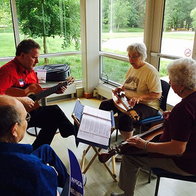 musicians at Mill Race Center