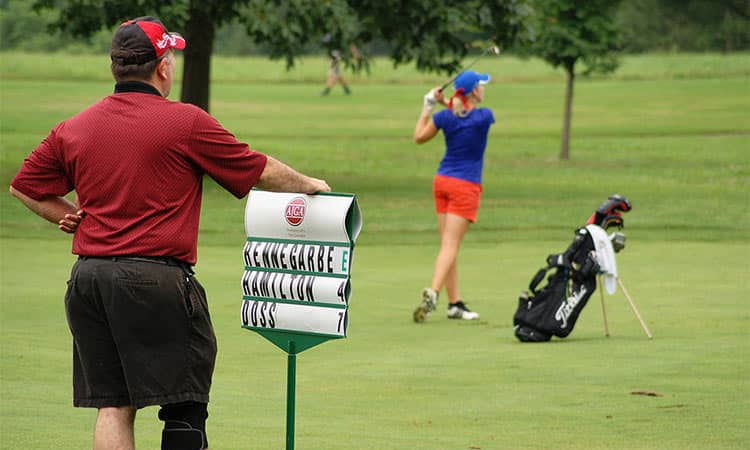 AJGA golf tournament, Columbus, Indiana