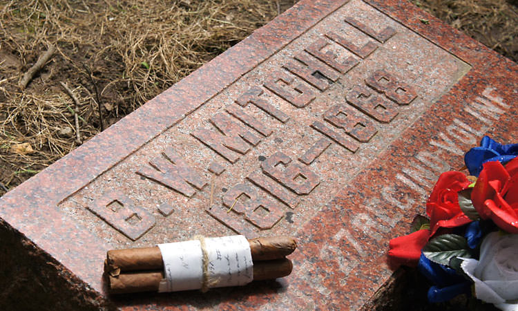 gravesite of Barton Mitchell - Hartsville, Indiana