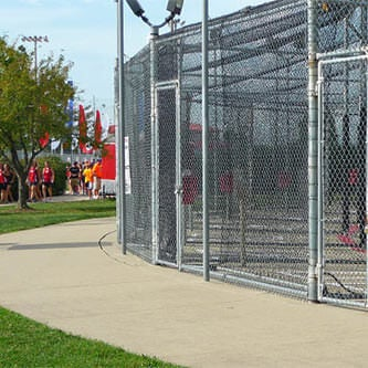 batting cages at Lincoln Park