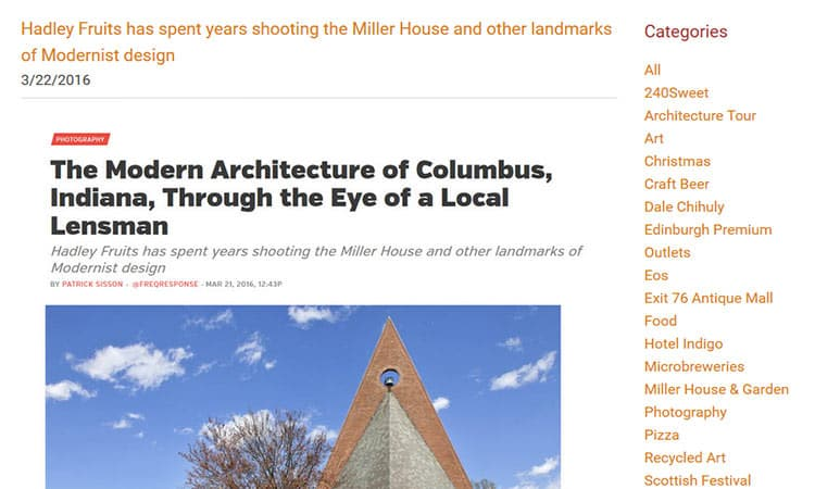 blog post - architecture in Columbus, Indiana