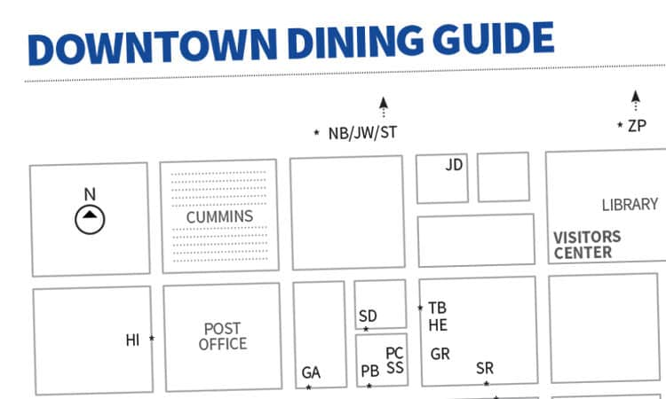 downtown dining guide