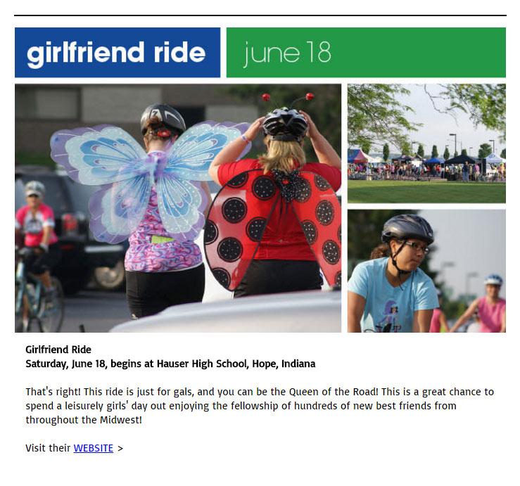 e-news - girlfriend ride