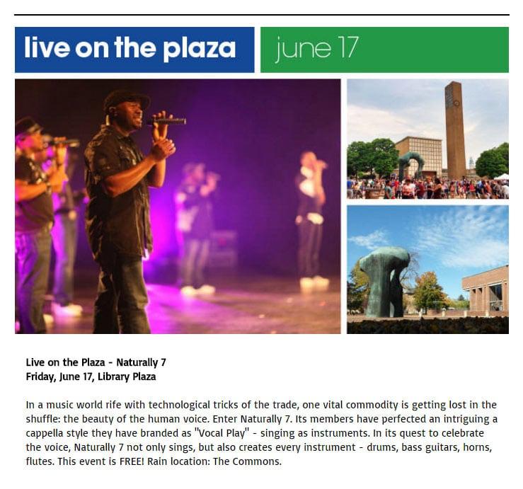 e-news - live on the plaza