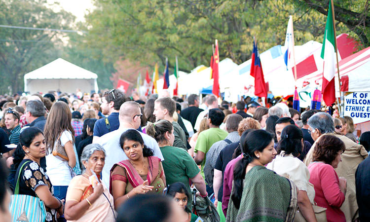 Ethnic Expo crowd in Columbus, Indiana