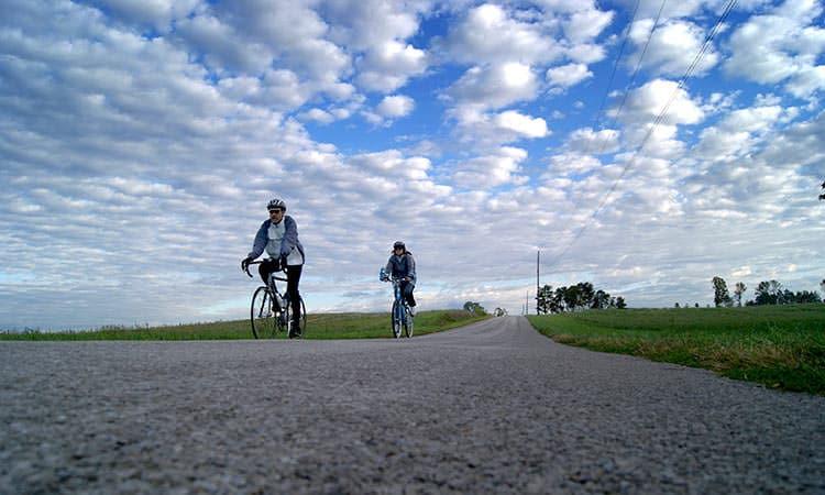 Hope Bike Ride sky shot - Hope, Indiana