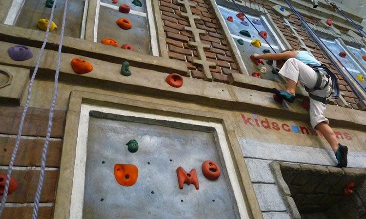 climbing wall at kidscommons