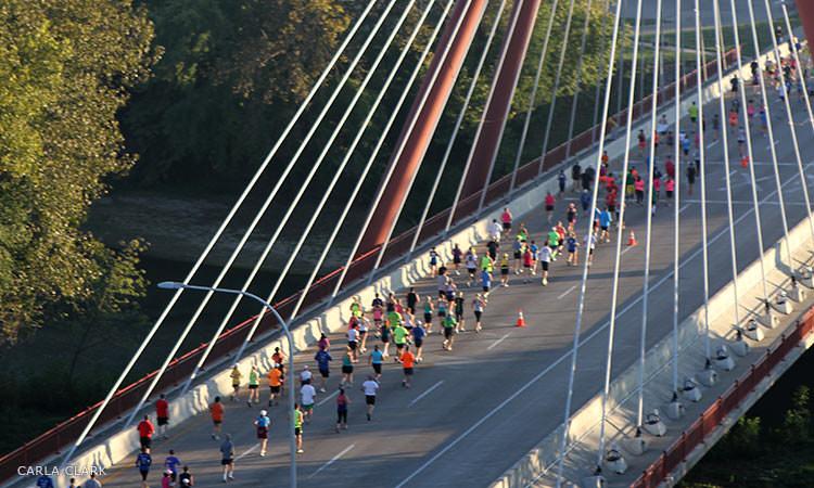 Mill Race Marathon and Stewart Bridge, photo by Carla Clark