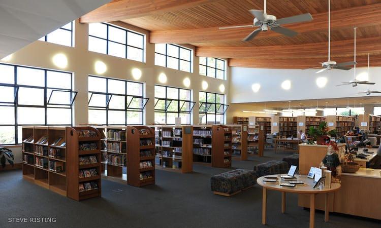 Hope Library interior, by Deborah Berke