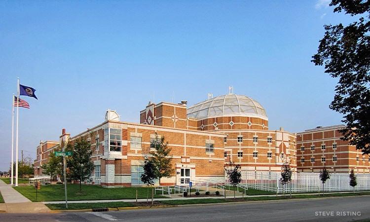 Bartholomew County Jail - Columbus, Indiana - from west