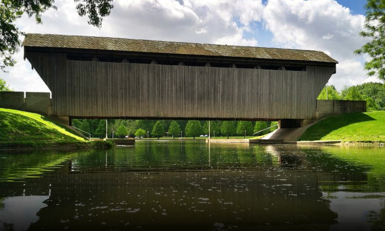 mill race covered bridge
