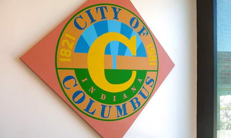 City of Columbus mural, Robert Indiana