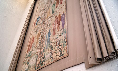 Sermon on the Mount tapestry, Eliel and Loja Saarinen - Columbus, Indiana