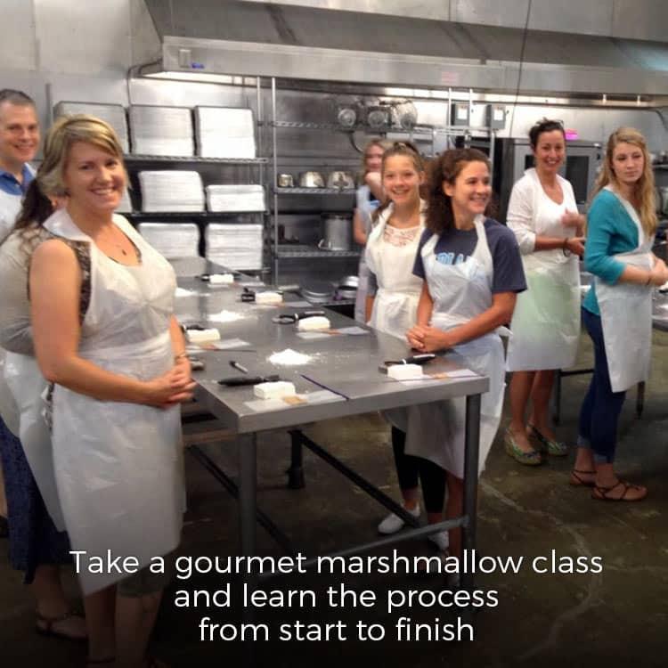 gourmet marshmallow class at 240Sweet