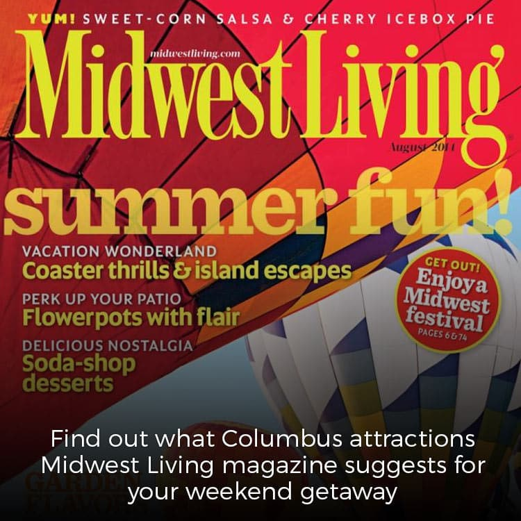Midwest Living weekend getaway suggestions for Columbus