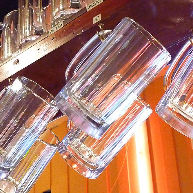 beer glasses at Columbus Bar