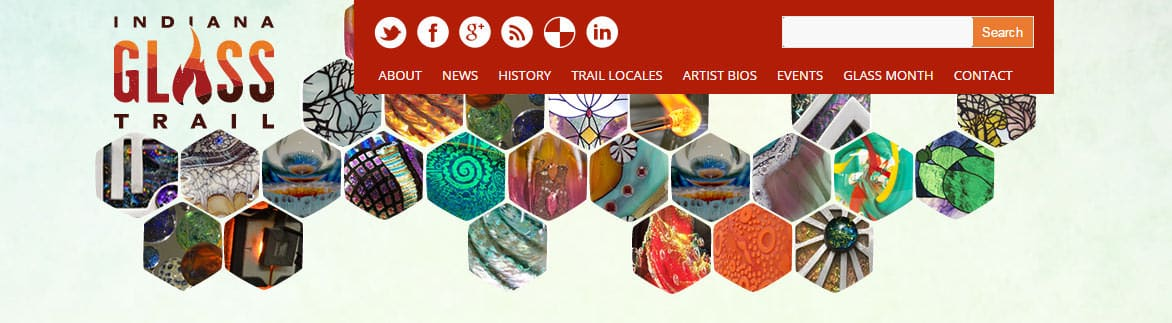 Indiana Glass Trail website banner image