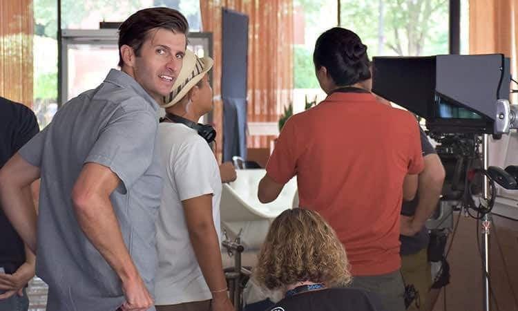 Columbus movie crew at Irwin Conference Center