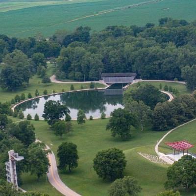 Mill Race park aerial