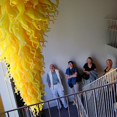 Chihuly chandelier, Columbus, IN