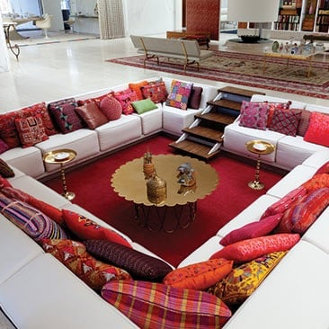 conversation pit at Miller House and Garden