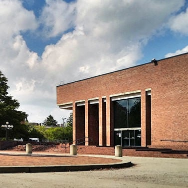I.M. Pei Library, from southeast