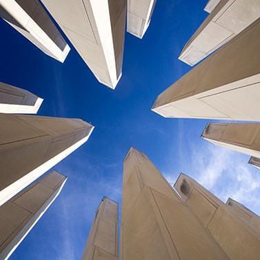 Memorial for Veterans, sky shot