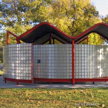Saitowitz restrooms, by Ricky Berkey