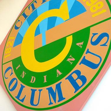 City of Columbus painting, Robert Indiana - Columbus, Indiana