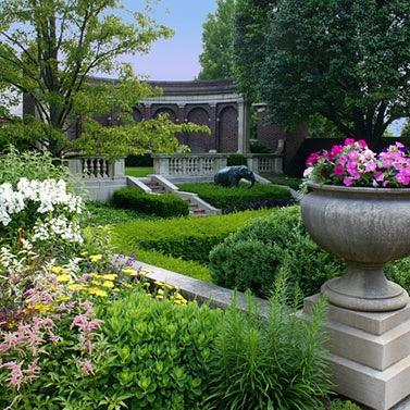 The gardens at Inn at Irwin Gardens