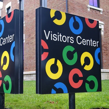 Paul Rand sign, Visitors Center