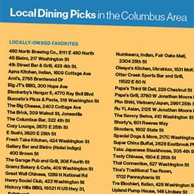 area dining guide
