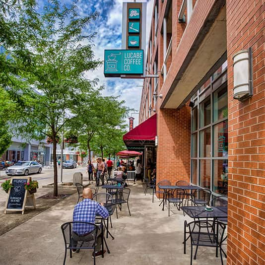 dining in downtown Columbus