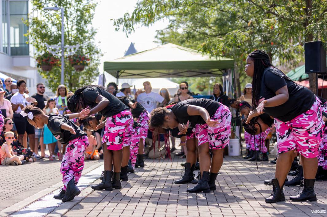 Juneteenth dancers