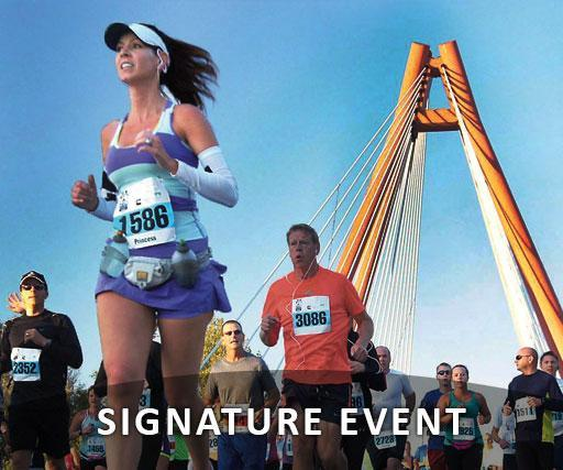 mill race marathon runners